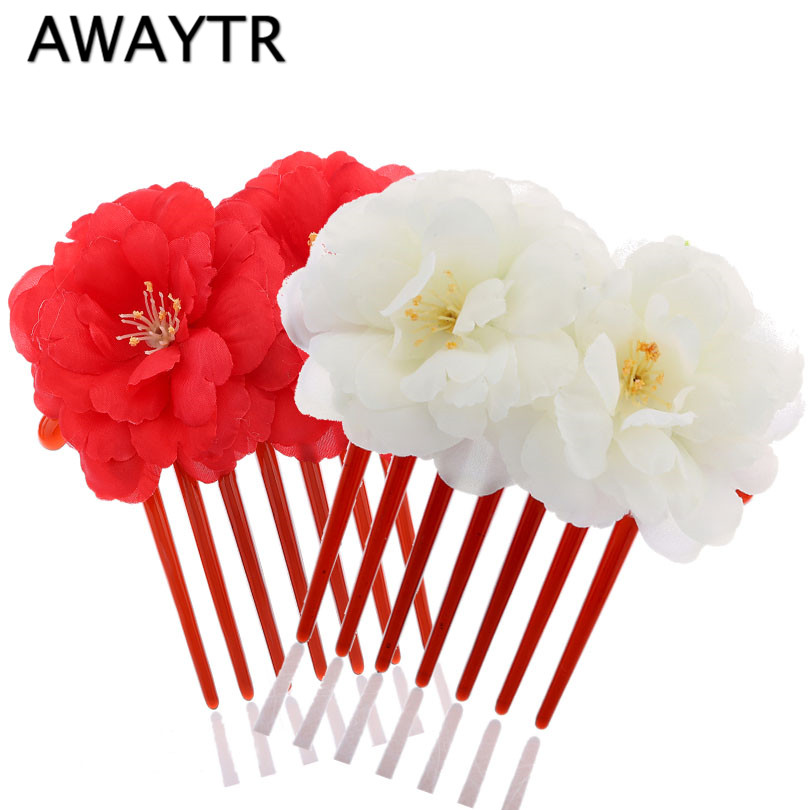 Women Girl Bohemia Bridal Camellias Hairband Combs Barrette Wedding Decoration Hair Accessories Beach Headwear women girl bohemia bridal peony flower hair clip hairpins barrette wedding decoration hair accessories beach headwear