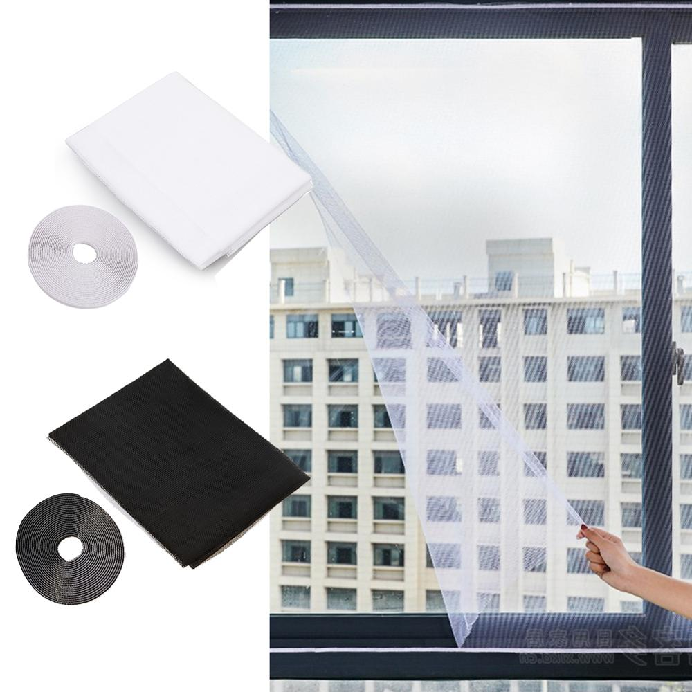 Anti Mosquito Window Self-adhesive Mosquito Net Flyscreen Curtain Insect Fly Mosquito Bug Mesh Window Screen Home With Tape