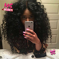 High Quality 180 Density Kinky Curly Synthetic Lace Front Wig Cheap Heat Resistant Fiber Synthetic Wigs for Black Women
