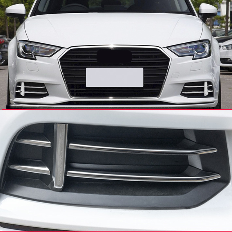 US $26 6 24% OFF High quality ABS for Audi front fog light cover decoration  trim for Audi Q3 A3 Sedan 2017 2018 year car styling-in Interior Mouldings