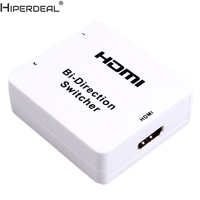 HIPERDEAL 3D HDMI Bi Direction Manual Switcher HDMI V1 4 Bi Direction 2x1 Or 1x2 Oct30