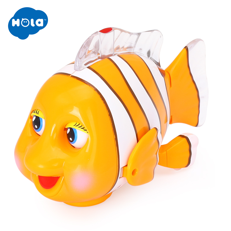 HOLA 998 Baby Toys Infrared Sensor Clever Clown Fish With Music & Lights Electric Toys For Children 18 Months+