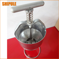 SHIPULE 2017 New Free Shipping Stainless Steel Mini Manual Donut Maker Machine