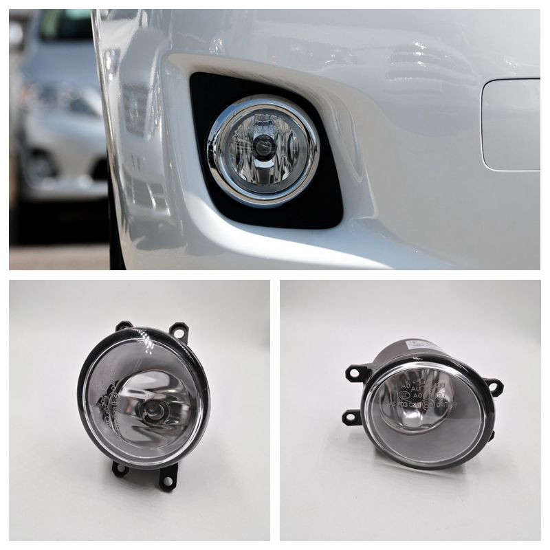 Cafoucs Car Front Bumper Fog Light With H11 Bulb For Toyota Camry Corolla RAV4 Yaris For Lexus CT200h LX570 RX450h IS250 car front bumper fog lamp lights for toyota yaris camry avensis rav4 corolla highlander matrix prius for lexus rx270 lx570