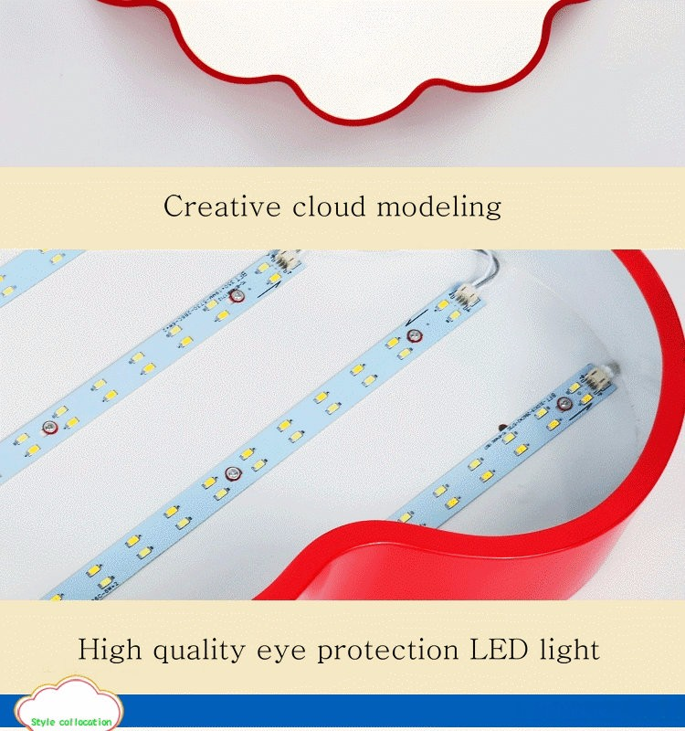 LED Cloud kids room lighting children ceiling lamp Baby ceiling light with yellow blue red white color for boys girls bedroom fixtures_13