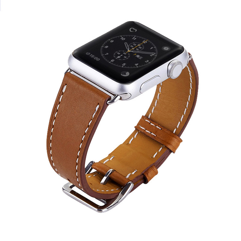 FOHUAS-Series-2-1-Genuine-Leather-Loop-For-Apple-Watch-Band-Double-Tour-42mm-For-Apple (1)