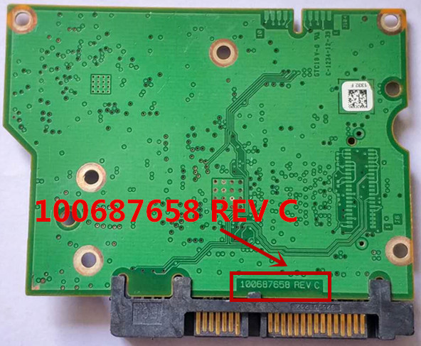 PCB  Board Printed Circuit Board 100687658 For Seagate 3.5 SATA 1T/2T/3T Hard Drive Repair Data Recovery 100687658 REV A B C