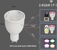 WIFI GU10 1 6million Color Change Dimmable 2 4G Led Spot Lamp 85 265V 4W RGB