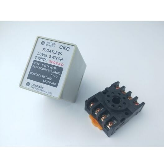 C61F-GP AC 220V 50/60 Hz 8 Pin Liquid Floatless Level Switch Controller With socket Base