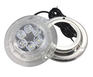 Image 2 - 12V הימי יאכטה LED מתחת למים אור עמיד למים נירוסטה נוף מנורה לבן/כחול סירת אביזרים