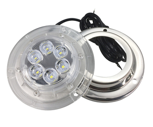 Image 2 - 12V Marine Yacht LED Onderwater Licht Waterdicht Roestvrijstalen Landschap Lamp Wit/Blauw Boot Accessoires
