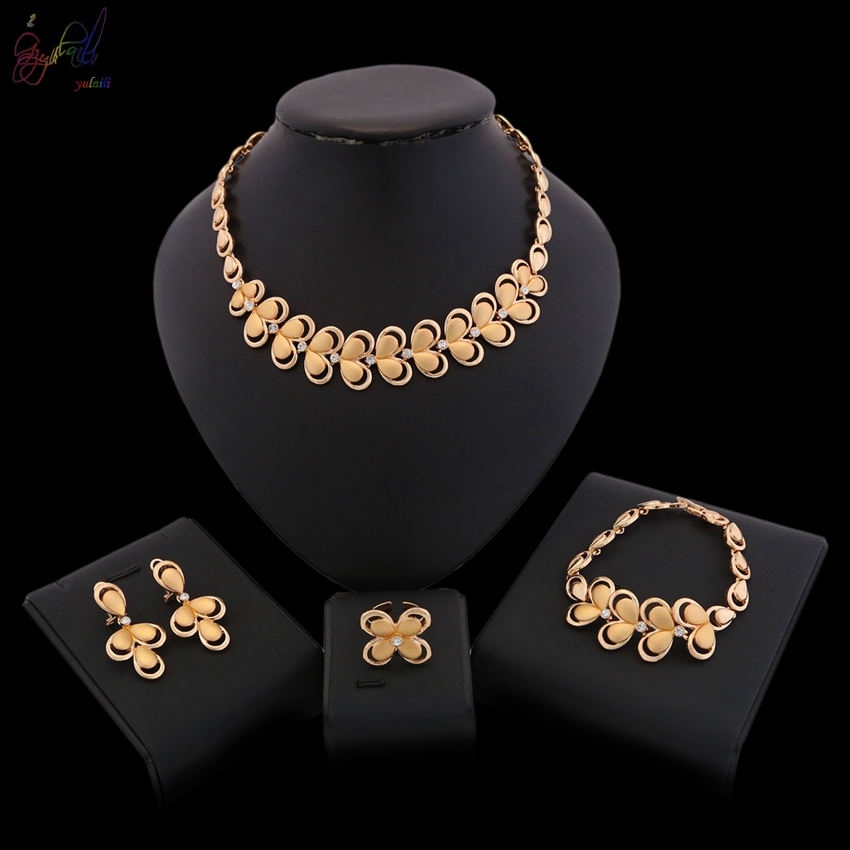 Free Shipping YULAILI 2018 New Coming Zircon Four Pieces Ladies Costume Jewelry SetsFree Shipping YULAILI 2018 New Coming Zircon Four Pieces Ladies Costume Jewelry Sets