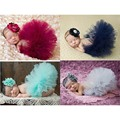 2016 nova 4 cores recém-nascido saia Tutu com harmonização de cabeça flor impressionante recém-nascido foto Prop menina saia Tutu