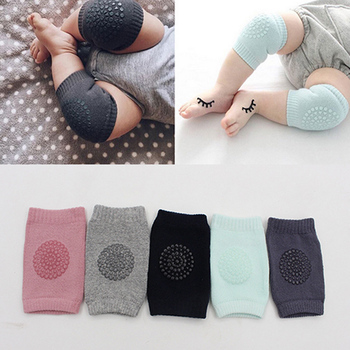 1 Pair Infant Toddler Knee Pads Anti Slip Crawling Safety Leg Warmers Crawling Accessory Baby Knees thick Protector dropshipping