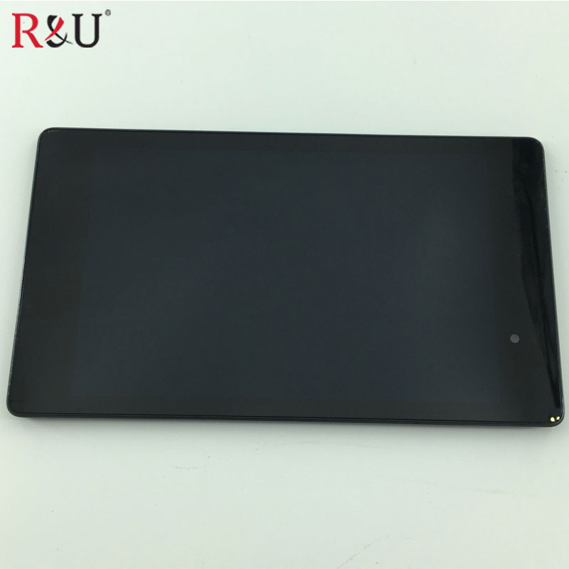 new LCD Display Panel + Touch Screen Digitizer Assembly with frame for ASUS Nexus 7 2nd Gen 2013 ME571KL 3G version lcd display screen panel monitor touch screen digitizer glass for asus google nexus 7 1st gen nexus7 2012 me370 me370t me370tg