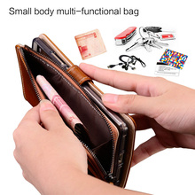 Genuine Leather For чехол на айфон 7 Wallet phone case Card package protective for iPhone Multifunction