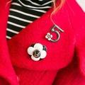 XZ67 CC camelia flor marca bijoux nuevo 2014 hijab broches de clip fular bufanda hebilla imperdibles alfileres broches imperdibles