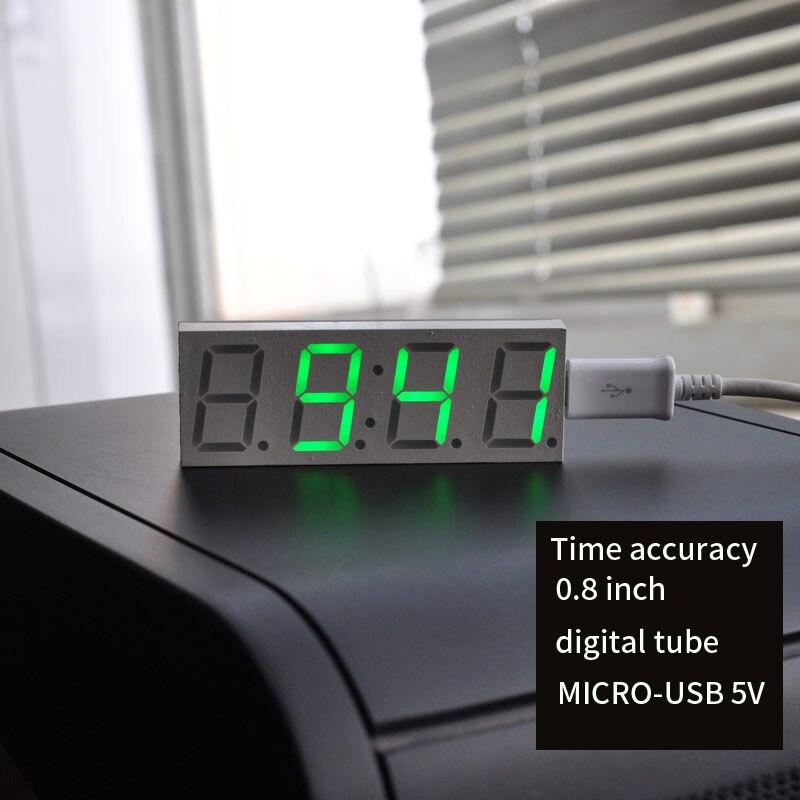 0,8 Zoll Digitaluhr Ds3231sn Ic Hohe Präzision Timing Zeit Genauigkeit Micri-usb 5 V Stromversorgung Diy Modul Led Zweite Display