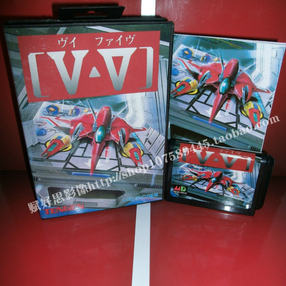 V-V Game cartridge with Box and Manual 16 bit MD card for Sega Mega Drive for Genesis