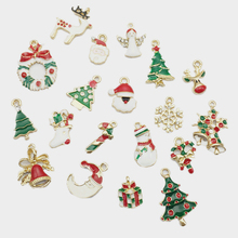 19Pcs Mini Alloy Pendants DIY Christmas Tree Decorations Hanging Ornaments New Year Gift For Home