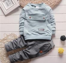 2017 Fashion Autumn Baby Boy Girl Clothes Long Sleeve Top + Pants 2pcs Sport Suit Baby Clothing Set Newborn Infant Clothing