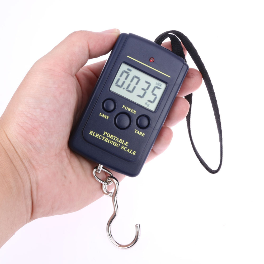 40kg X 10g Mini Digital Fishing Scale For Fishing Luggage Travel Weighting Steelyard Hanging Electronic Hook Scale Weighing Tool