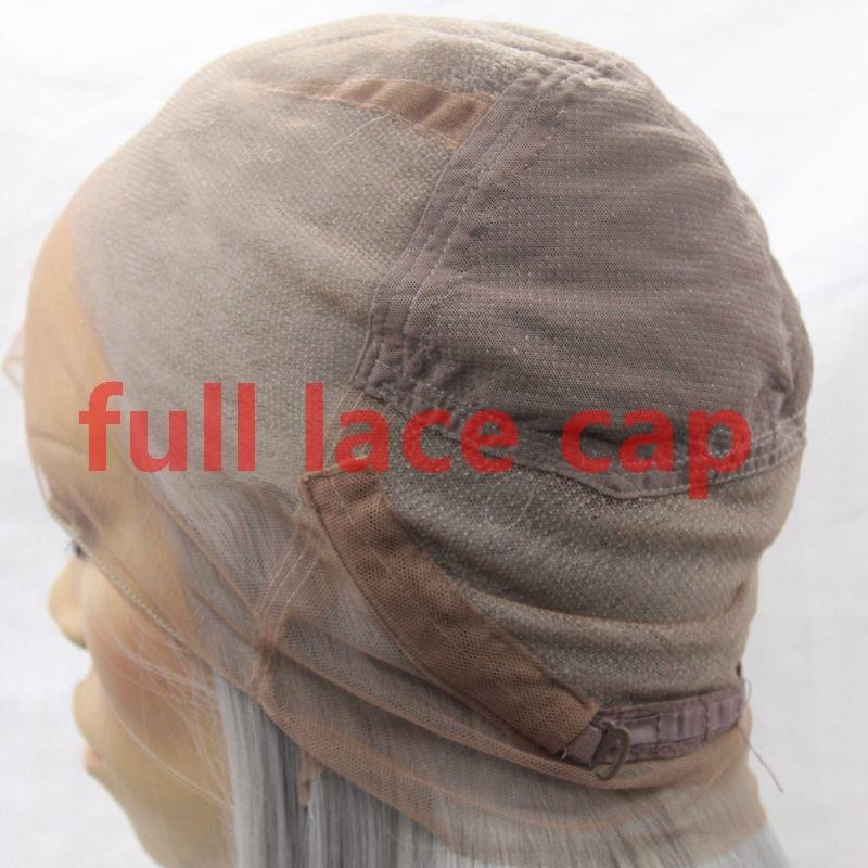 Lång rak naturlig hårhår limlös spets frampärm & full spetspigg - Syntetiskt hår - Foto 3