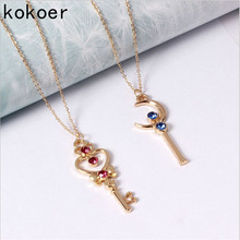 Hot Sell Heart Key Necklaces & Pendants Elegant Stone Floating Charm Wedding Necklace Women Jewelry Beautiful necklace