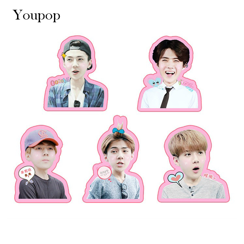 Jewelry & Accessories Humorous Kpop Exo Sehun Chanyeol Cute Pvc Sticker For Laptop Cup Notebook Scrapbook Diy Stickers Waterproof Moderate Price