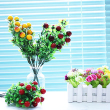 Party Decoration Artificial Fruit Small Berries Flowers Simulation Decorative Red Stamen Wedding Christmas DIY Craft