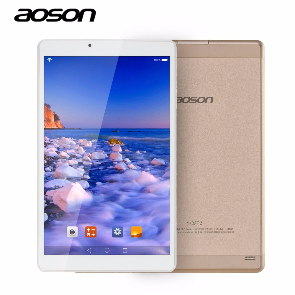 Ultra Delgada de 10.1 pulgadas Andriod 6.0 Tablet PC Aoson R103 de Oro IPS 800*1