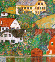Modern Landscape Art Reproduction Houses at Unterach Gustav Klimt painting oil on canvas High quality Hand painted