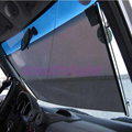 Negro Auto Del Coche Ventana Rueda para Ciegos de la Sombrilla Del Parabrisas Del Visera del protector 50x125 cm