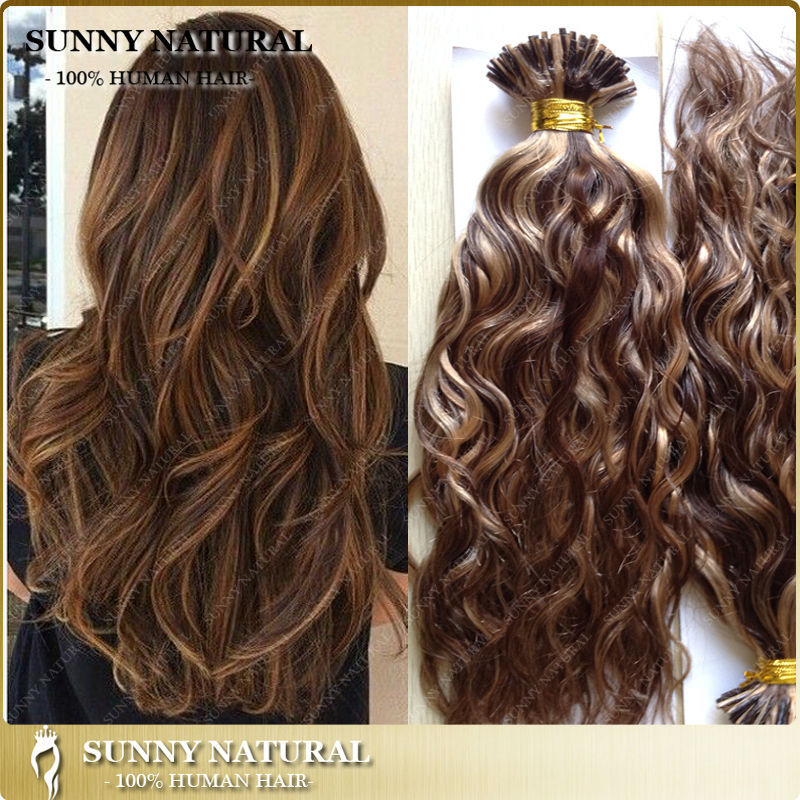 Russian I Tip Hair Extension 1g Stand Wavy Stick Tip Hair Color 4