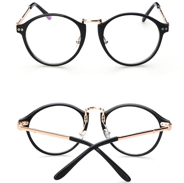 2015 Brand new Korean metal round eyeglasses plain mirror fashion ...