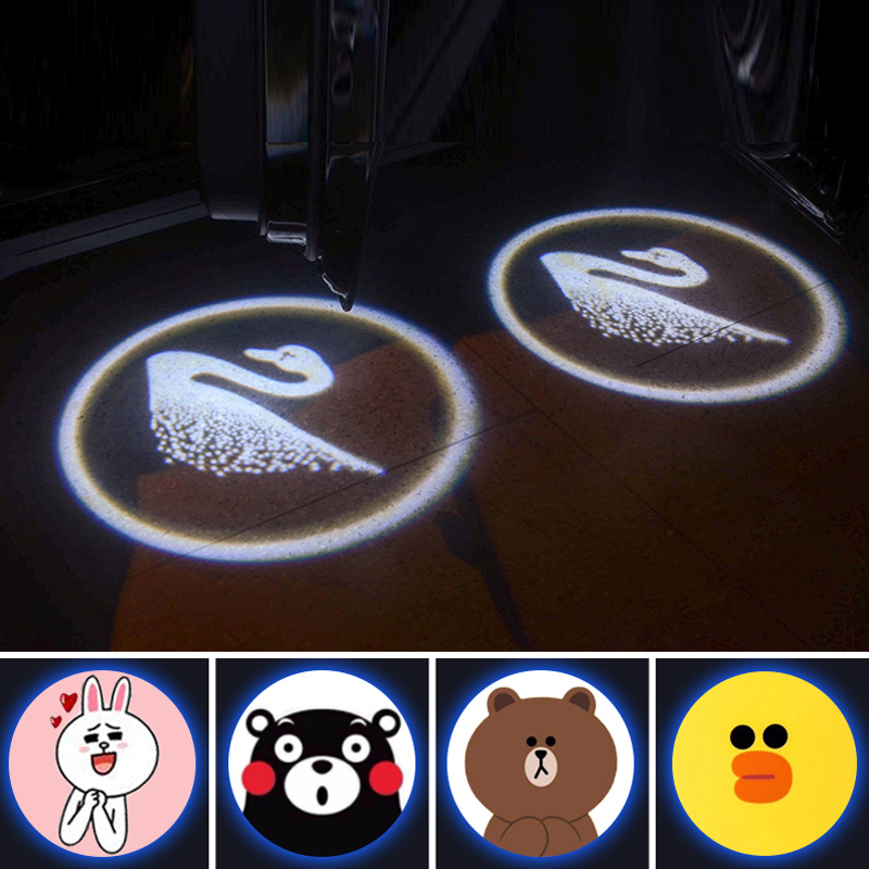 2PCS Cartoon Wireless Car Shadow Door Light Laser Projector Logo Led Welcome Lamp For Mini Cooper JCW Car-styling Accessories 3m 10435 safety protective goggles fashion sunglasses shock resistant safety glasses anti dust anti wind anti sand g2308