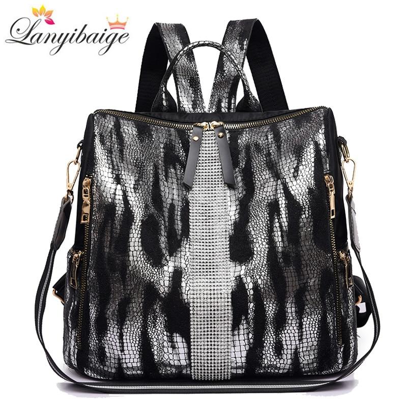 Fashion Backpack Tiger Pattern Women Backpacks Waterproof Shoulder Bag For Women Oxford Cloth School Bag For Teenager Girls