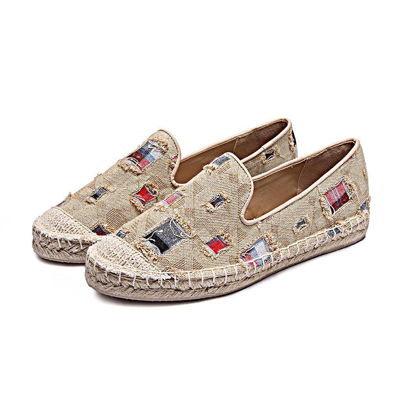 Women flats shoes new arrival 2017 spring high quality striped flat shoes women breathable canvas loafers