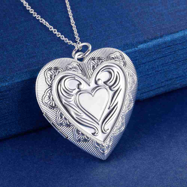 2017 millow open design sterling silver big heart shape pendant 2017 millow open design sterling silver big heart shape pendant necklace lovely real silver love wedding aloadofball Image collections