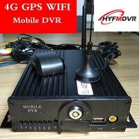 4G gps Wi Fi MDVR удаленного позиционирования хост мониторинга 4ch двойной SD карты автобус/грузовик/такси мобильный dvr