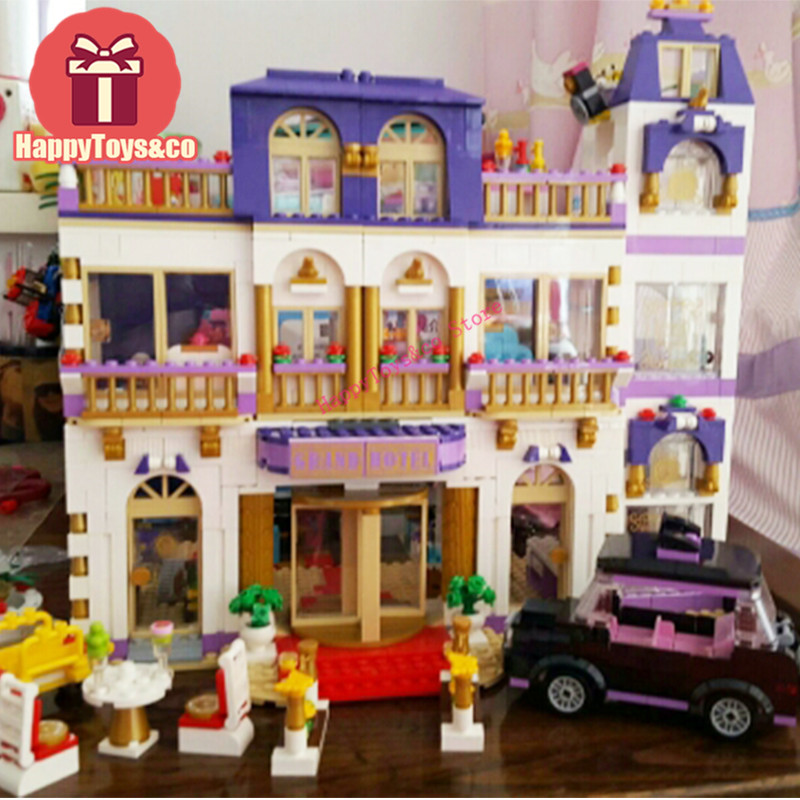 Friends series 41101 1676Pcs Heartlake Grand Hotel toys For Children Gift 01045 Building Blocks Set Compatible Education 1676pcs friends heartlake grand hotel building blocks bricks girls toys compatible with legoingly 41101 for children gifts