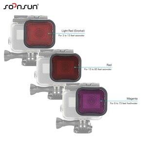 Image 2 - SOONSUN 3 Pack Filters Kit Red Magenta Snorkel Lens Color Filter for GoPro HERO 5 6 7 Black Super Suit Housing Case Accessories