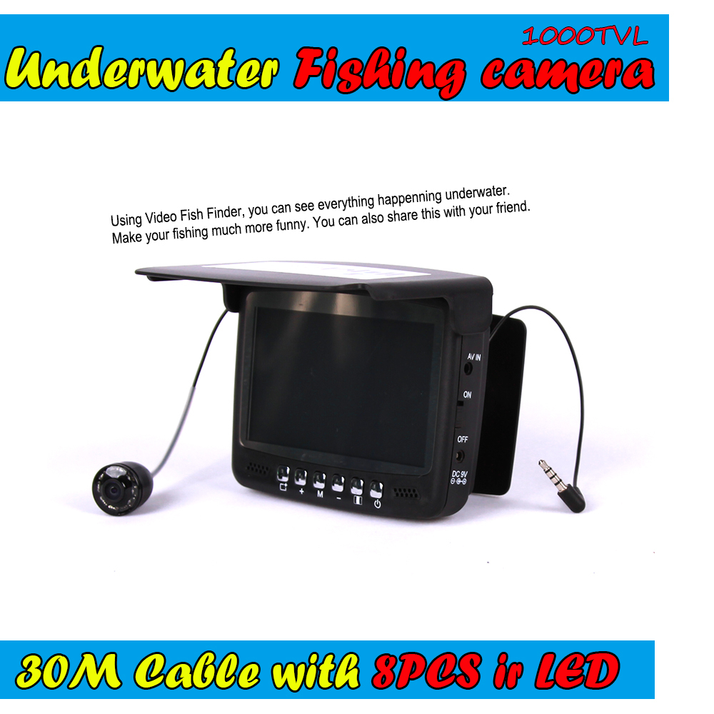 Visible Video Fish Finder Underwater Ice Fishfinder Fishing Camera Ir Night For Vision Monitor Kit 30m Cable Cr110-7hbs 2 4g wireless fish finder underwater fishing camera video free soft app 50m underwater breeding monitoring for fish searching