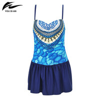 Summer New Hot Sale Swimwear Women Swimsuit Sexy Push Up Bathing Dress Floral Pattern Plus Size