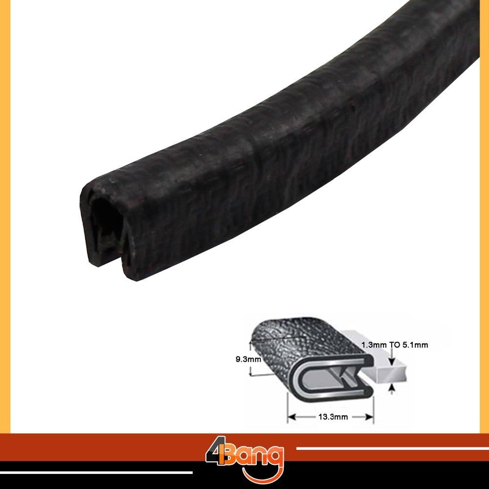 √ mmx mm black u channel vinyl rubber edge