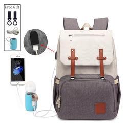 Новая мода с USB Мумия Папа пеленки мешок большой водостойкий сумка для кормления путешествия рюкзак коляска уход за ребенком подгузник