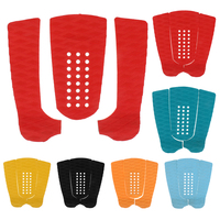 New 5 Colors Set Of 3pcs Surfboard Traction Tail Pads Surfing Surf Deck Grips Surf Deck