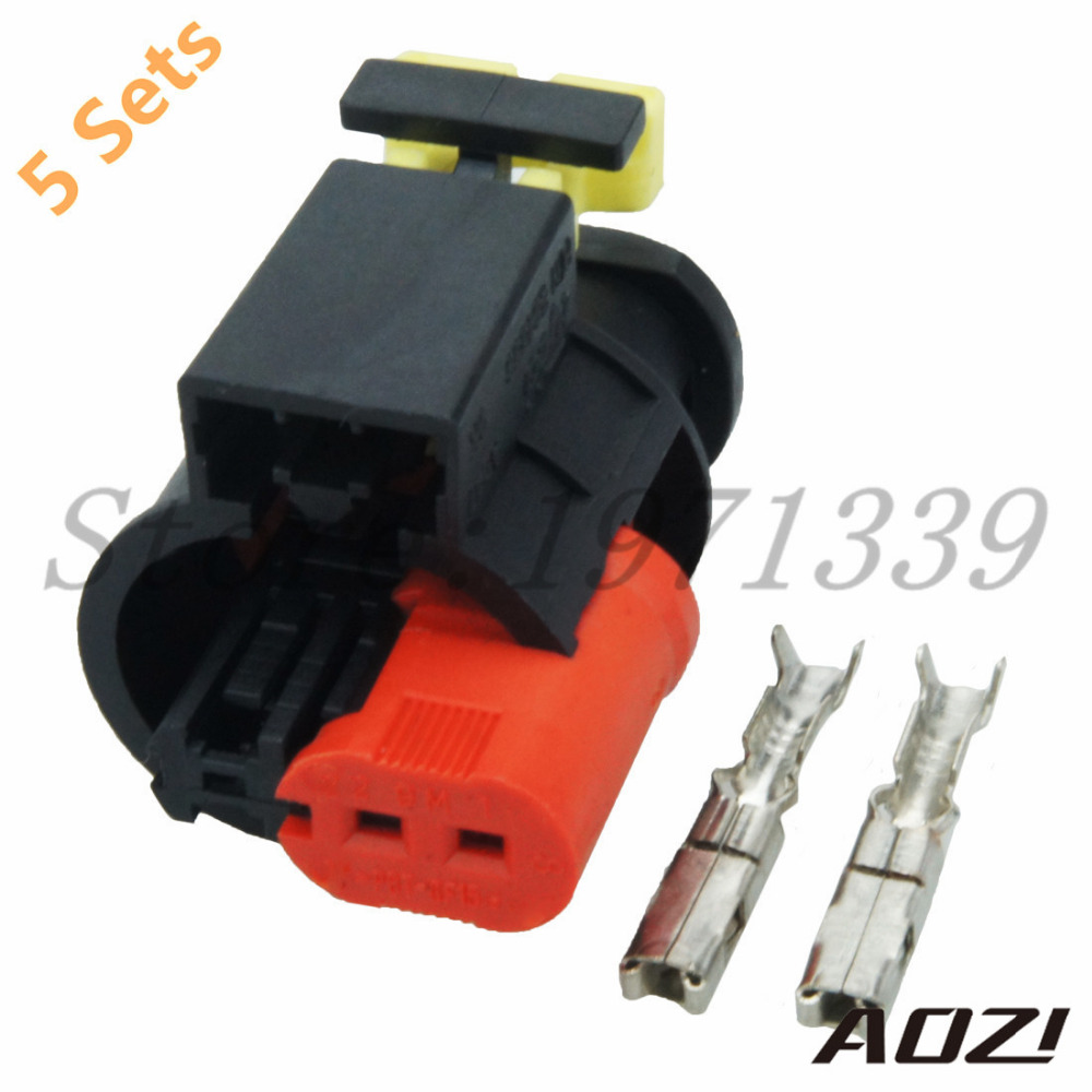 5 Sets Kit Waterproof /Sealed Wire Harness 2 pins 1.5mm / Female Auto  Plastic Connector 284556 1-in Connectors from Lights & Lighting on  Aliexpress.com ...