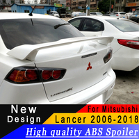 New type High quality ABS spoiler For Mitsubishi Lancer EX 2006 to 2018 spoiler Primer or any color rear spoiler for Lancer EX