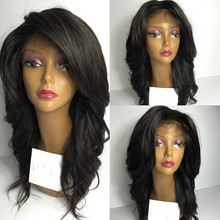 2016 Wavy Synthetic Lace Front Wig African American Lace front Wigs For Black Women Female Wig synthetic Lace Front Wigs curta